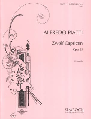 Alfredo C. Piatti - 12 Capricen op. 25 - Sheet Music - di-arezzo.co.uk
