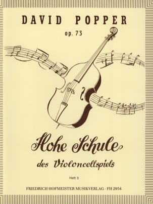 David Popper - Hohe Schule of Violoncellspiels op. 73, Heft 3 - Sheet Music - di-arezzo.co.uk