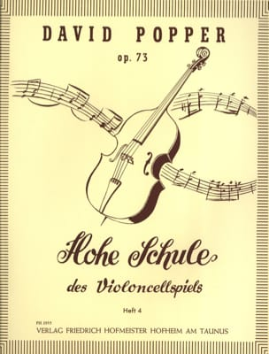 David Popper - Hohe Schule of Violoncellspiels op. 73, Heft 4 - Sheet Music - di-arezzo.com