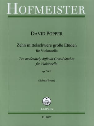 David Popper - 10 Etüden op. 76/2 - Partition - di-arezzo.fr