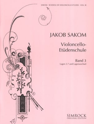 Jakob Sakom - Cello Etüden-Schule Heft 3 - Sheet Music - di-arezzo.co.uk