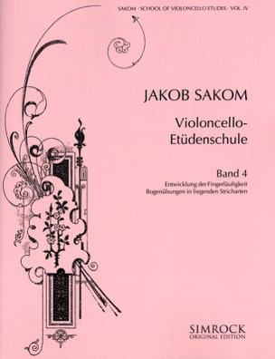 Jakob Sakom - Violoncello Etüden-Schule, Heft 4 - Sheet Music - di-arezzo.co.uk