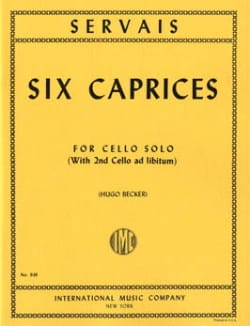 Adrien-François Servais - 6 Caprices op. 11 - Sheet Music - di-arezzo.co.uk