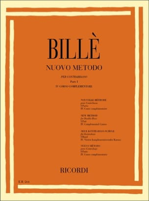 Isaia Billè - New method of contrabass, P. 1/4 - Sheet Music - di-arezzo.com
