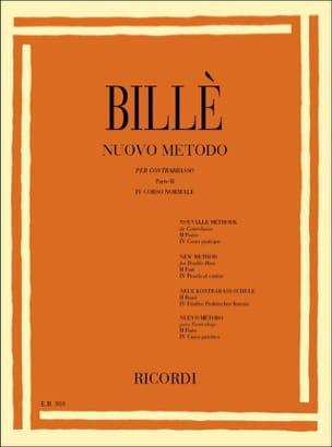 Isaia Billè - Nouvelle méthode de contrebasse, P. 2 / 4 - Partition - di-arezzo.fr