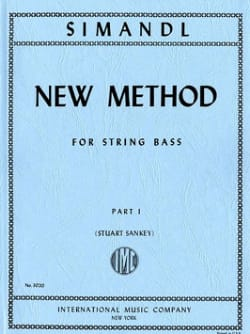 Franz Simandl - New method for string bass, part 1 - Partition - di-arezzo.fr