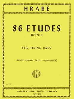 86 Etudes, Volume 1 - String bass Josef Hrabe Partition laflutedepan