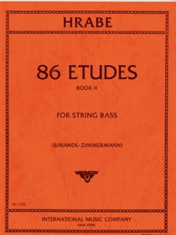 86 Etudes, Volume 2 - String bass Josef Hrabe Partition laflutedepan