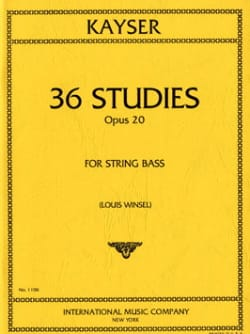 Heinrich Ernst Kayser - 36 Studies op. 20 - Double bass - Sheet Music - di-arezzo.co.uk