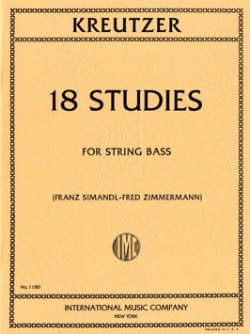 Rodolphe Kreutzer - 18 Studies - Double Bass - Sheet Music - di-arezzo.co.uk