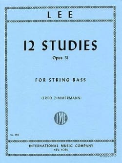 12 Studies op. 31 - String bass Sebastian Lee Partition laflutedepan