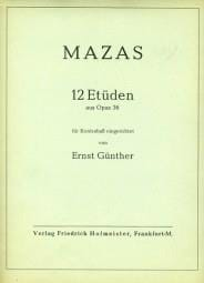 MAZAS - 12 Etüden aus op. 36 - Kontrabass - Sheet Music - di-arezzo.co.uk