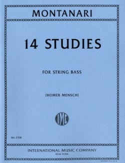 14 Studies - String bass Carlo Montanari Partition laflutedepan