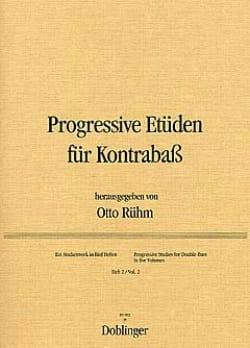 Otto Rühm - Progressive Etüden für Kontrabass, Heft 2 - Partition - di-arezzo.fr