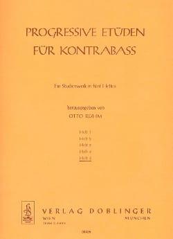 Otto Rühm - Progressive Etüden für Kontrabass, Heft 5 - Partition - di-arezzo.fr