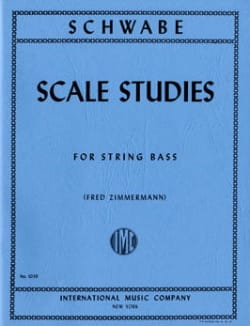 Oswald Schwabe - Scale Studies - String bass - Partition - di-arezzo.fr