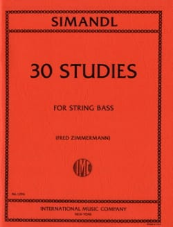 30 Studies - String bass Franz Simandl Partition laflutedepan