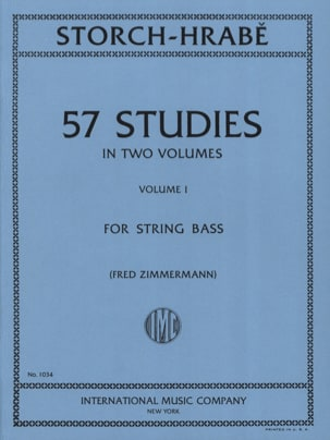 Storch J. E. / Hrabe Josef - 57 Studies, Volume 1 - String bass - Partition - di-arezzo.fr