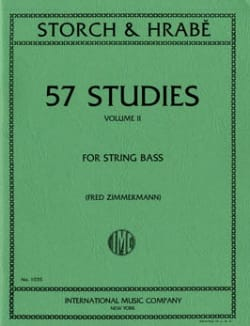 Storch J. E. / Hrabe Josef - 57 Studies, Volume 2 – String bass - Partition - di-arezzo.fr