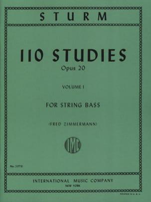 Wilhelm Sturm - 110 Studi op. 20, Volume 1 - Partitura - di-arezzo.it