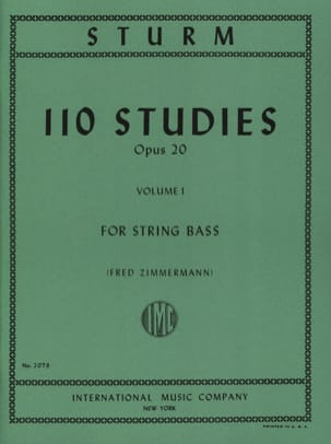 110 Studies op. 20, Volume 1 Wilhelm Sturm Partition laflutedepan