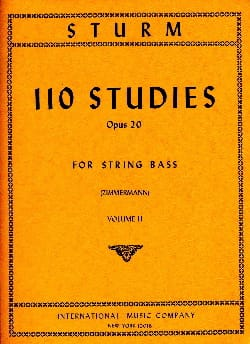 Wilhelm Sturm - 110 Studies op. 20, Volume 2 - String bass - Sheet Music - di-arezzo.co.uk
