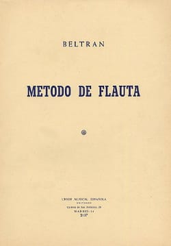 J. M. Beltran - Metodo of flute - Sheet Music - di-arezzo.co.uk