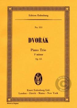 Antonín Dvorák - Klavier-Trio F-Moll, Op. 65 - Partition - di-arezzo.ch