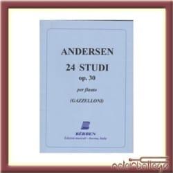 Joachim Andersen - 24 Studi op. 30 - Partition - di-arezzo.fr