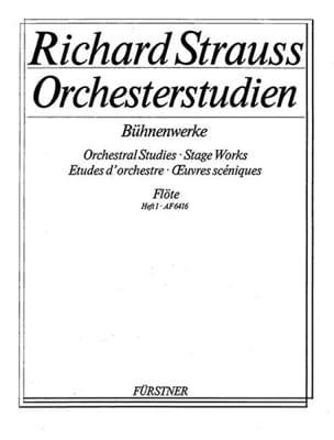 Richard Strauss - Orchesterstudien Bühnenwerke - Bd. 1 - Sheet Music - di-arezzo.co.uk