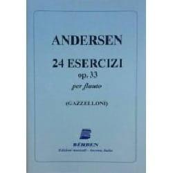 Joachim Andersen - 24 Esercizi op. 33 - Partition - di-arezzo.fr