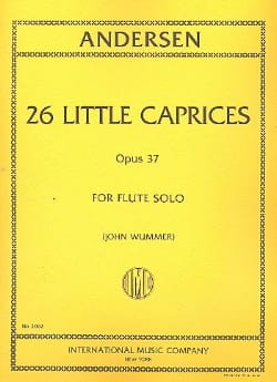 Joachim Andersen - 26 Little caprices op. 37 - Partition - di-arezzo.fr