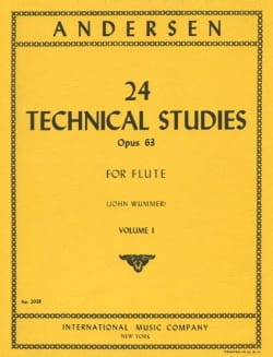 24 Technical studies op. 63 - Volume 1 ANDERSEN Partition laflutedepan