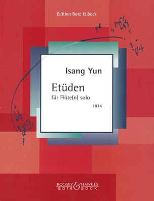 Isang Yun - Etüden - Flöten solo - Partition - di-arezzo.fr