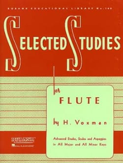 H. Voxman - Selectected Studies for Flute - Sheet Music - di-arezzo.co.uk