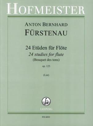 Anton Bernhard Fürstenau - 24 Studies for flute - Bouquet of tones op. 125 - Sheet Music - di-arezzo.co.uk