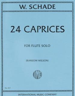 William Schade - 24 Caprices - Flûte - Partition - di-arezzo.fr