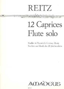 Heiner Reitz - 12 Caprices op. 4 - Solo flute - Sheet Music - di-arezzo.co.uk