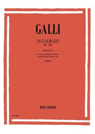 30 Esercizi op. 100 Raffaele Galli Partition laflutedepan