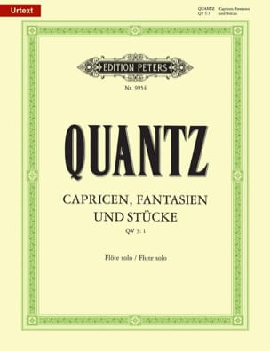 Johann Joachim Quantz - Capricen, Fantasien und Stücke – Flöte solo - Partition - di-arezzo.fr