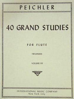Antonio Clemente Peichler - 40 Grand Studies - Volume 3 – Flute - Partition - di-arezzo.fr