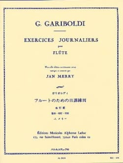 Exercices journaliers - GARIBOLDI - Partition - laflutedepan.com