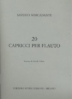 Saverio Mercadante - 20 Caprici per flauto - Sheet Music - di-arezzo.co.uk