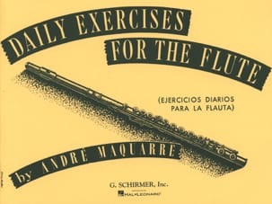 André Maquarre - Daily exercises for the flute - Sheet Music - di-arezzo.co.uk