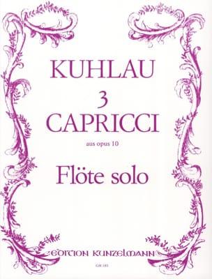 Friedrich Kuhlau - 3 Capricci aus op. 10 - Solo flute - Sheet Music - di-arezzo.com