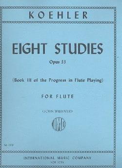 Ernesto KÖHLER - 8 Studie op. 33 - Book 3 - Sheet Music - di-arezzo.co.uk