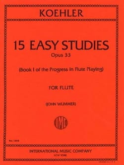Ernesto KÖHLER - 15 Easy studies op. 33 - Book 1 - Sheet Music - di-arezzo.co.uk