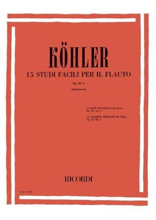 15 Studi facili per il flauto op. 33 n° 1 Ernesto KÖHLER laflutedepan