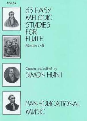 Simon Hunt - 63 Easy melodic studies for flute - Sheet Music - di-arezzo.com