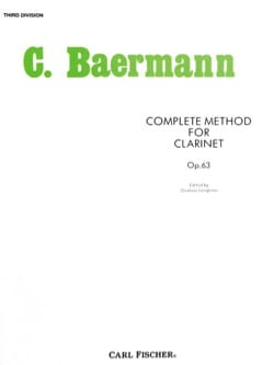 Carl Baermann - Complete Method - Division 3 - Sheet Music - di-arezzo.co.uk